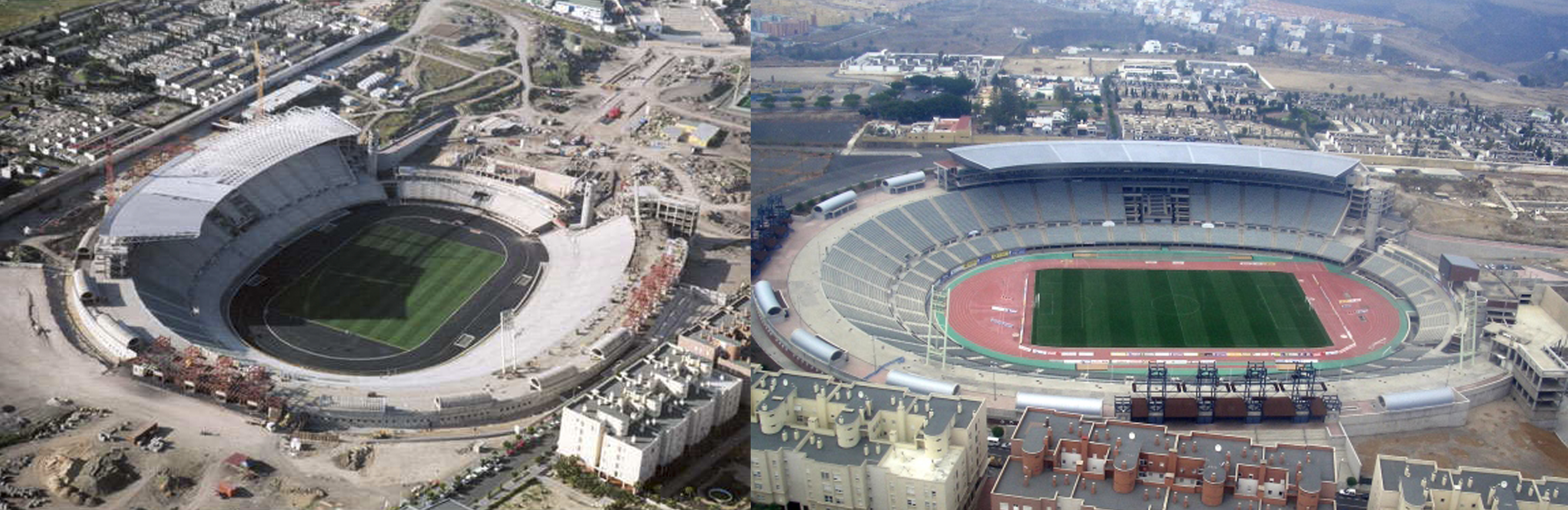 Proceso de construcción y finalización del Estadio de Gran Canaria