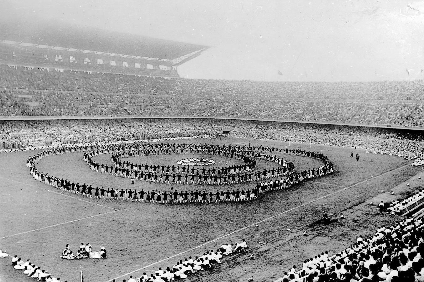 Inauguración del Camp Nou. Septiembre de 1957