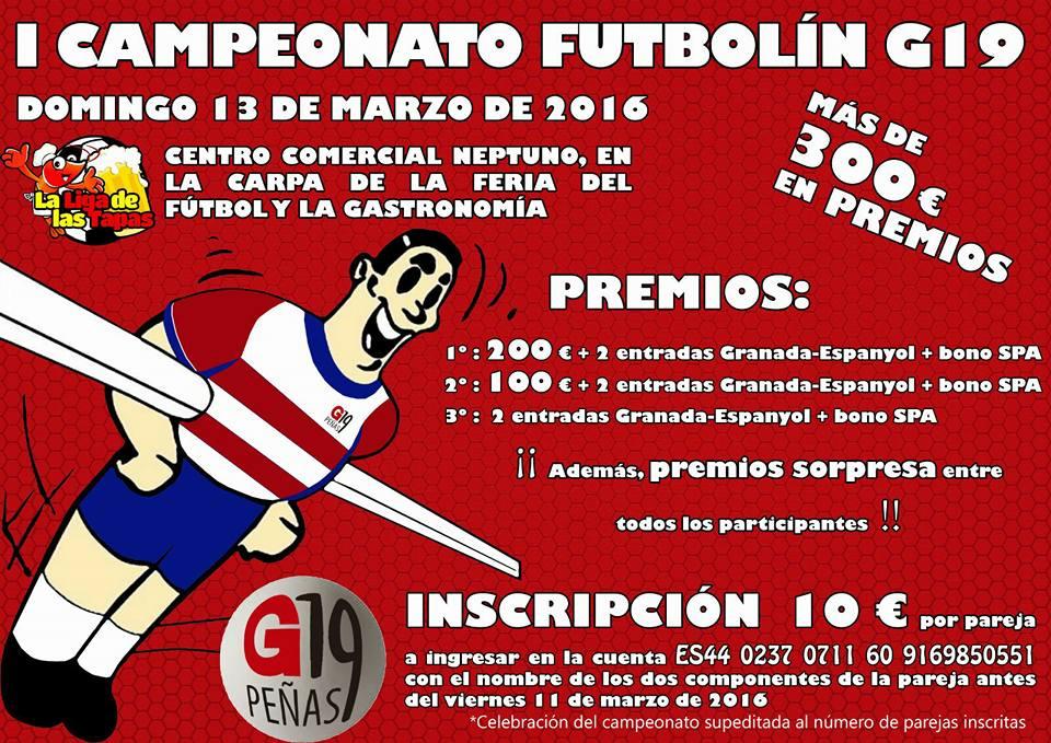 I campeonato Futbolín G19