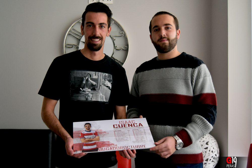Cuenca recibe el premio Jugador G19 Octubre. Imagen: @davinniapg